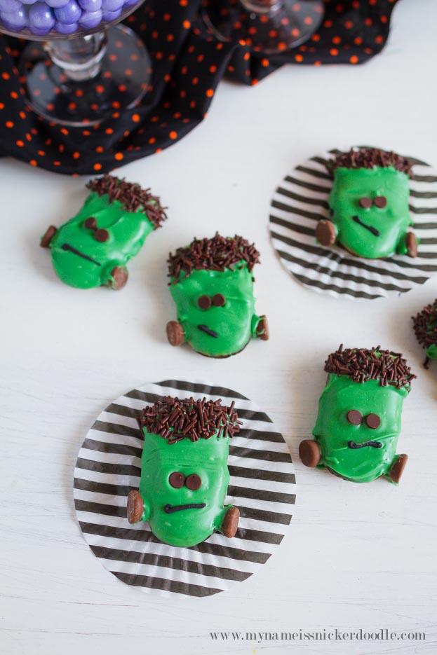 Frankenstein Cookies | Halloween Party Treats