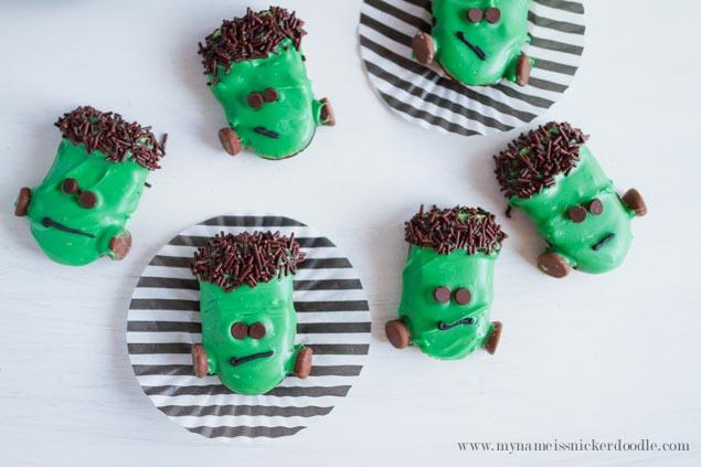 Frankenstein Cookies | Halloween Party Food