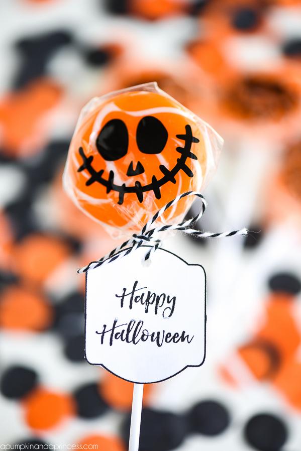 Jack-O-Lantern Lollipops | Halloween Treat Ideas