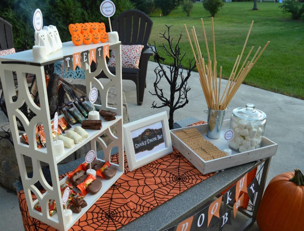 Spooky S'mores Bar | Halloween Party Ideas