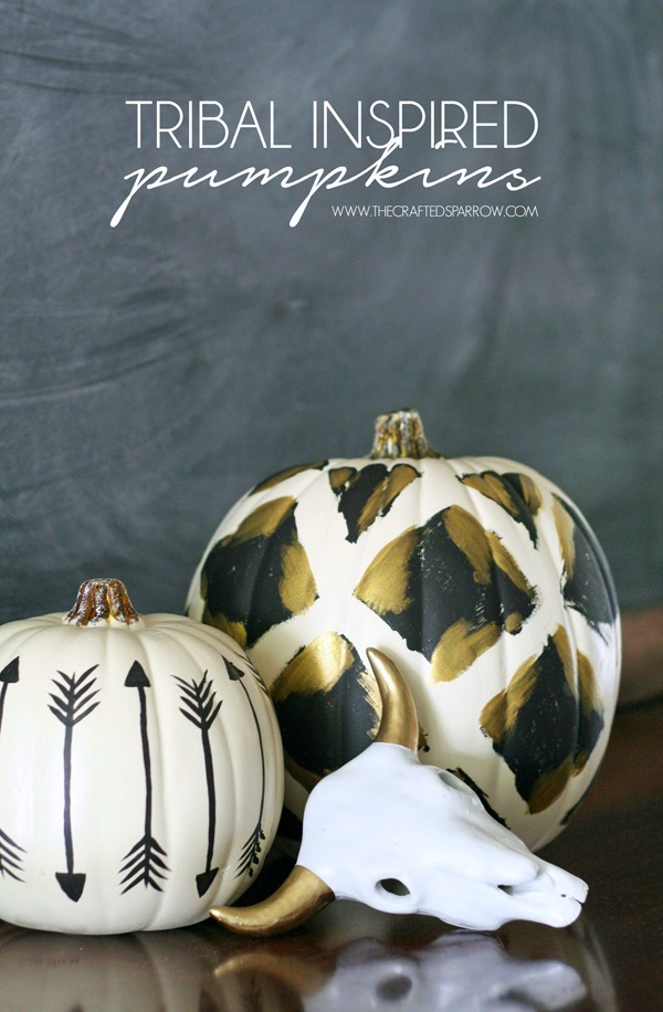 Tribal Inspired Pumpkins
