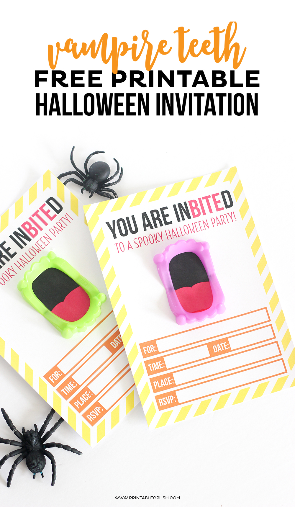 Vampire Teeth Halloween Invitations