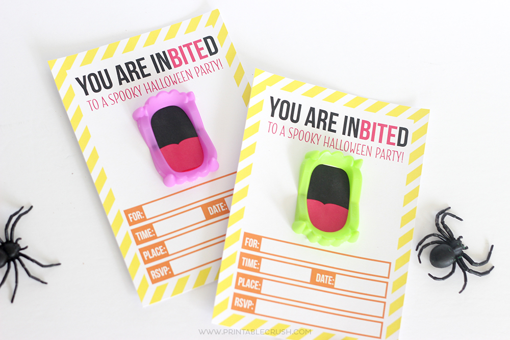 Free Printable Vampire Teeth Halloween Invitation   Halloween Party Ideas