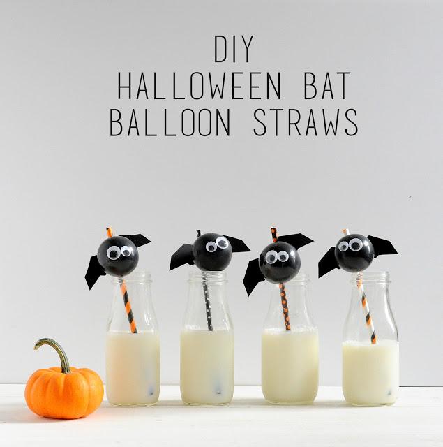 Batty Halloween straws