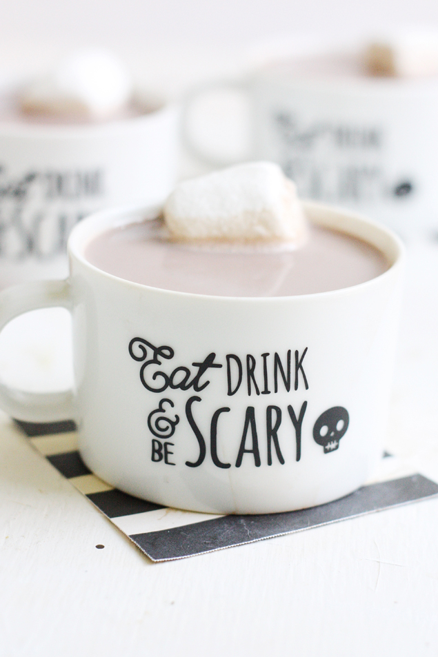 Cute Halloween Mugs | Halloween Craft Ideas