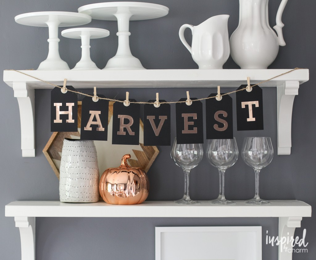 DIY Fall Tag Banners | Fall Decorations