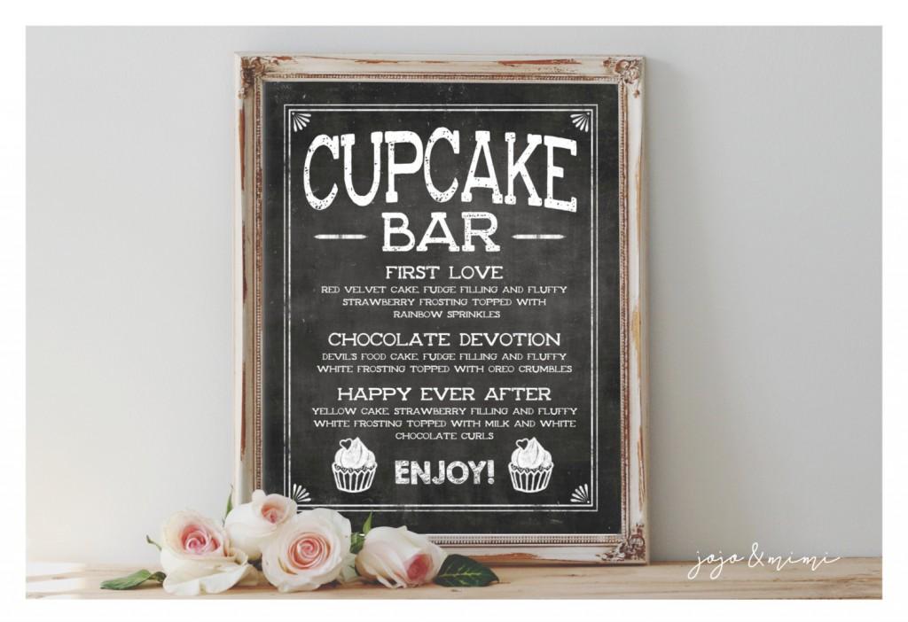 Custom Cupcake Bar