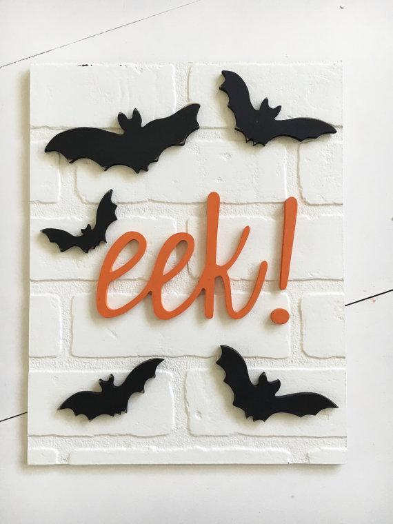 eek Halloween Sign