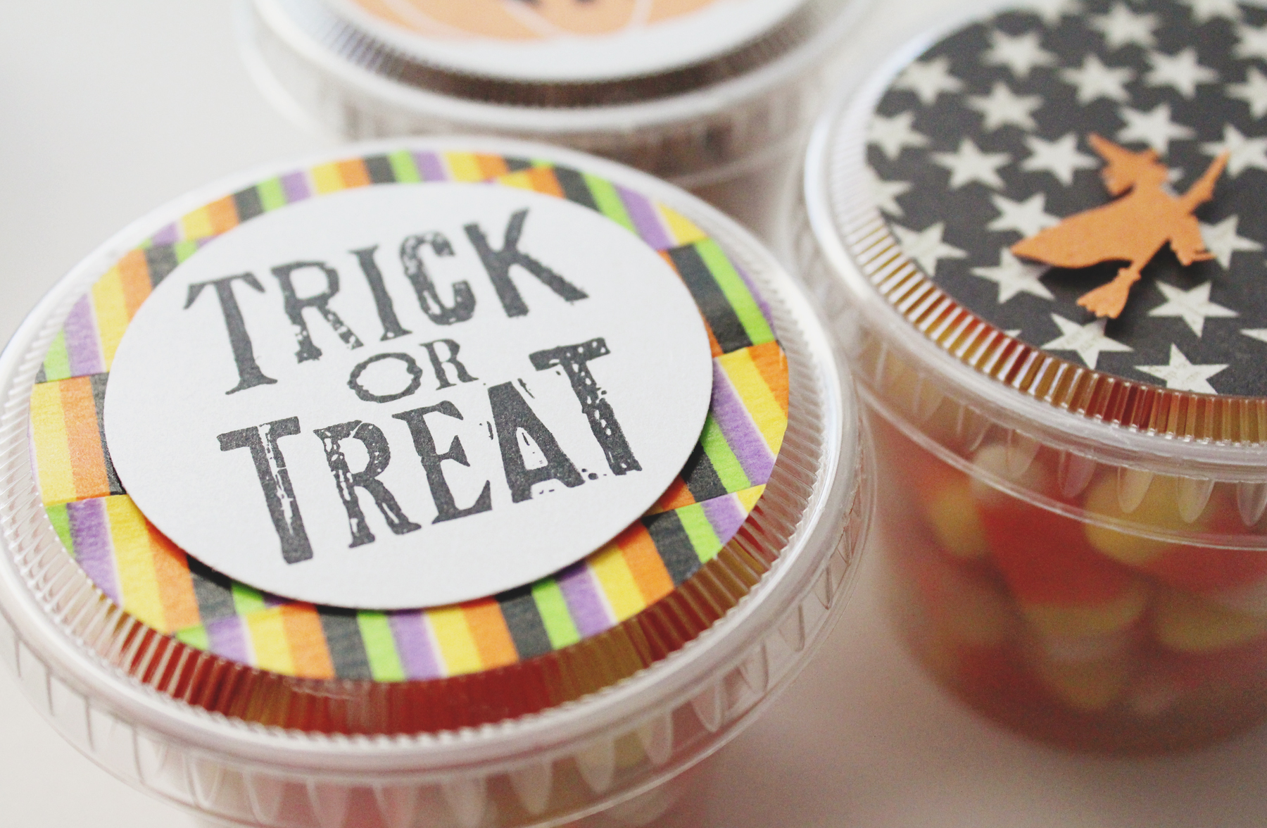 Trick or Treat Snack Cups