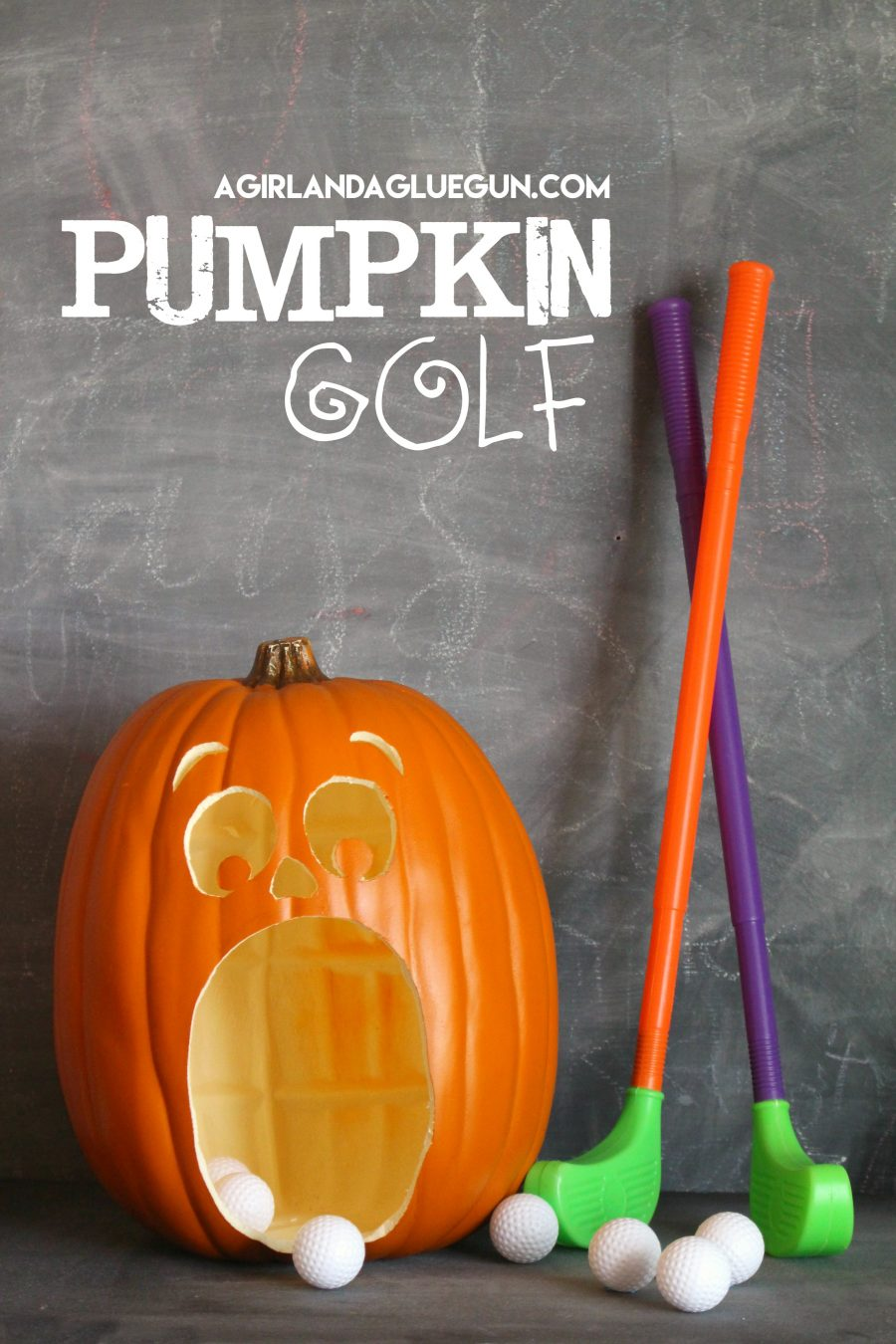 Halloween Pumpkin Golf | halloween party ideas
