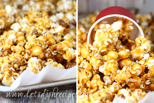 Spicy Caramel Pecan Popcorn | Caramel Popcorn Recipes