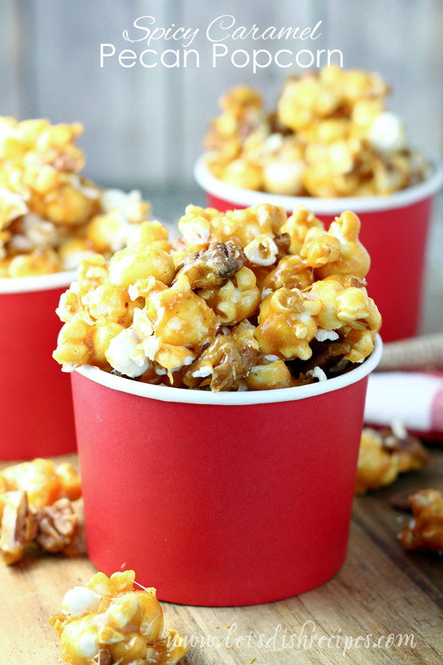 Spicy Pecan Caramel Popcorn | Caramel Popcorn Recipes