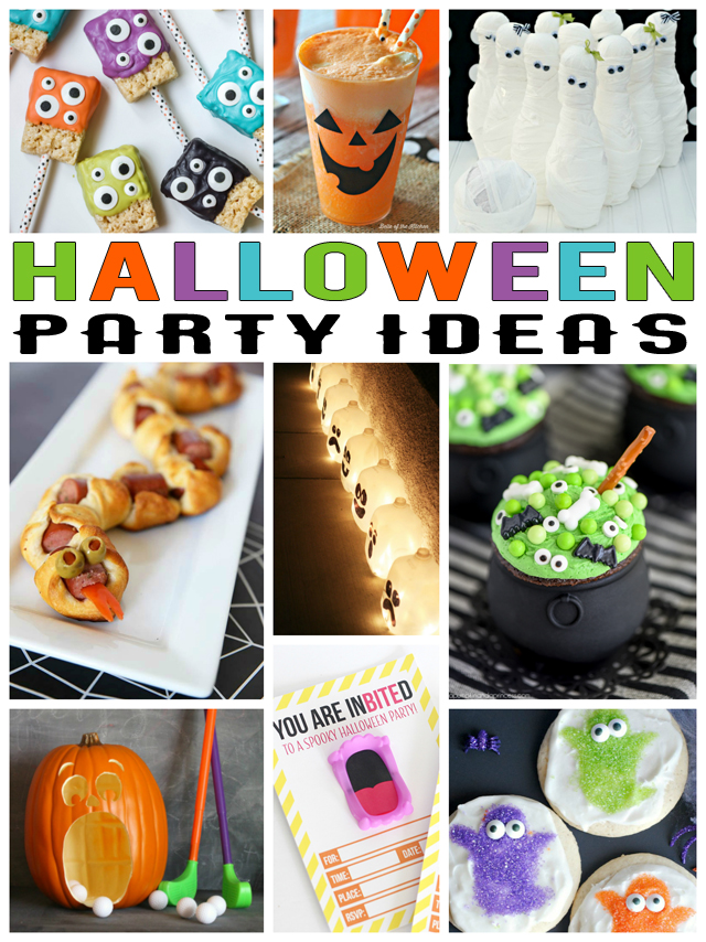 The best Halloween Party Ideas | Halloween party invitations, decorations, games, food, drinks, treats and favors!