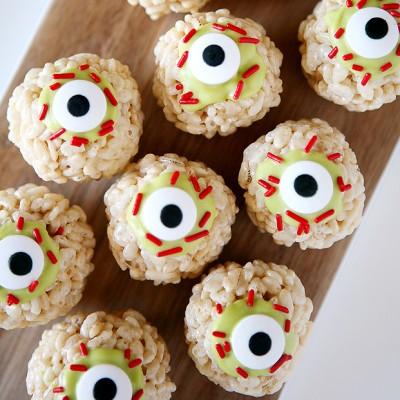 Zombie Eyeball Rice Krispies Treats