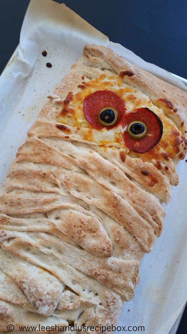 Mummy Stromboli   halloween party ideas