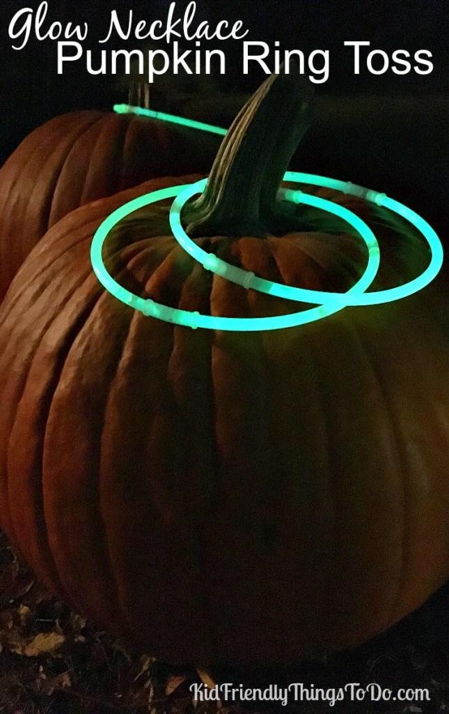 Glow Necklace Pumpkin Ring Toss