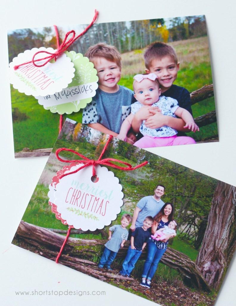 Christmas Card Tags