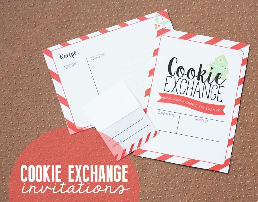 Cookie Exchange Invitation - Eighteen25