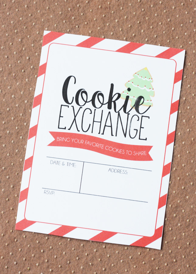 Cookie Exchange Invitation Eighteen25