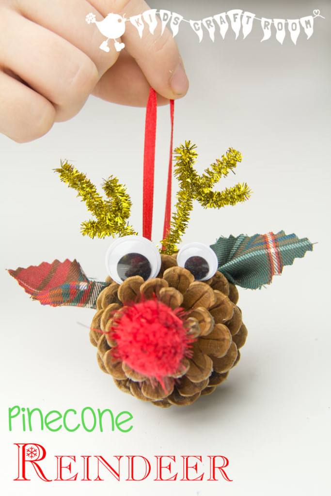 Pinecone Reindeer  | Christmas Kids Crafts