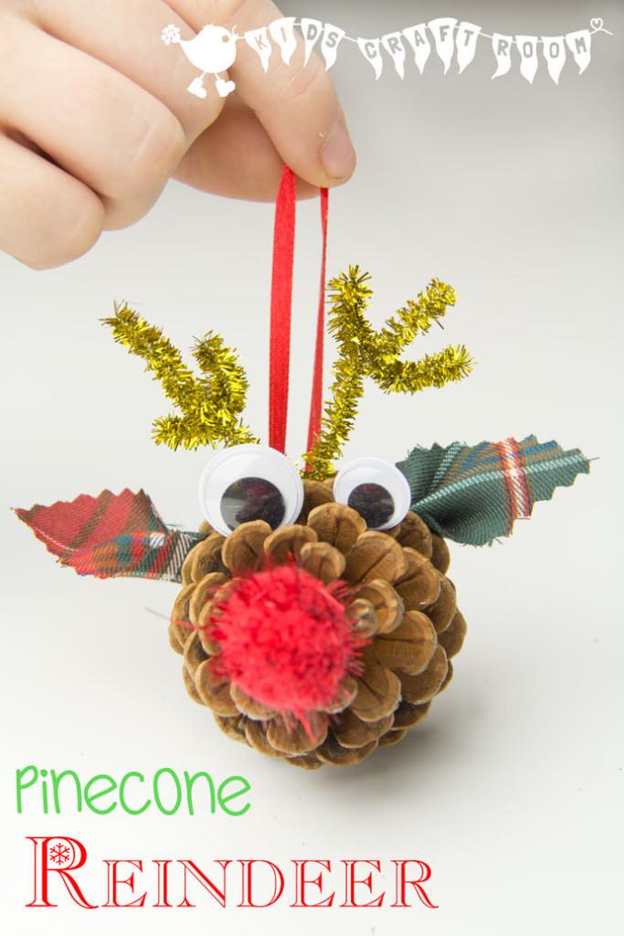 Pinecone Reindeer  | Christmas Kids Crafts