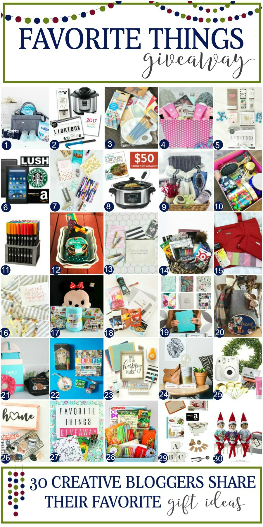 Favorite Things Giveaway! 30 awesome prizes you can win!