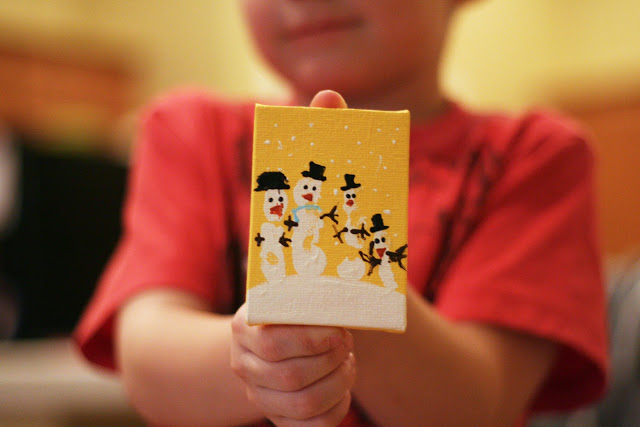 Handprint Snowmen | Christmas Kids Crafts