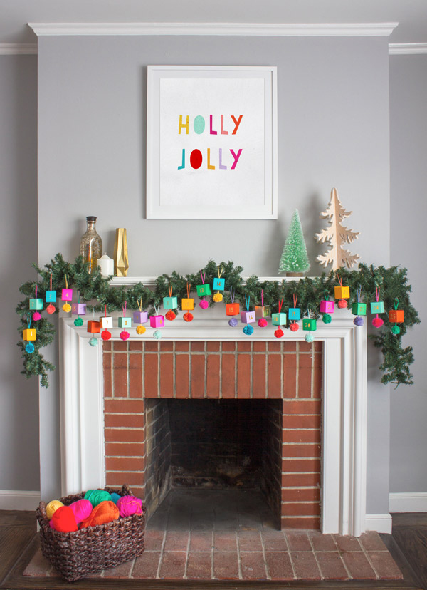 Christmas Mantels | Holly Jolly Christmas Mantel by Oh Happy Day