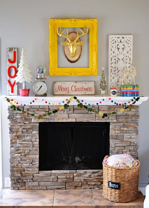 Christmas Mantels | It's Beginning to Look a Lot Like Christmas Mantel by Little Miss Momma