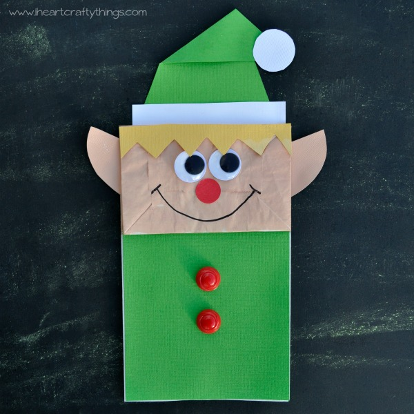 Paper Bag Elf | Christmas Kids Crafts