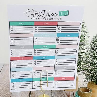 Printable Christmas To Do List
