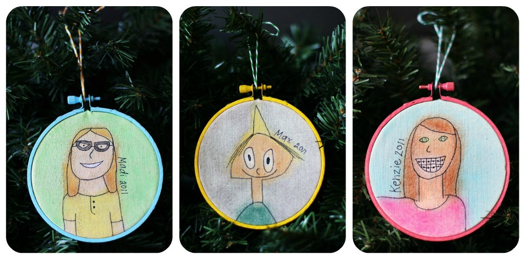 Self Portrait Ornaments | Christmas Kids Crafts