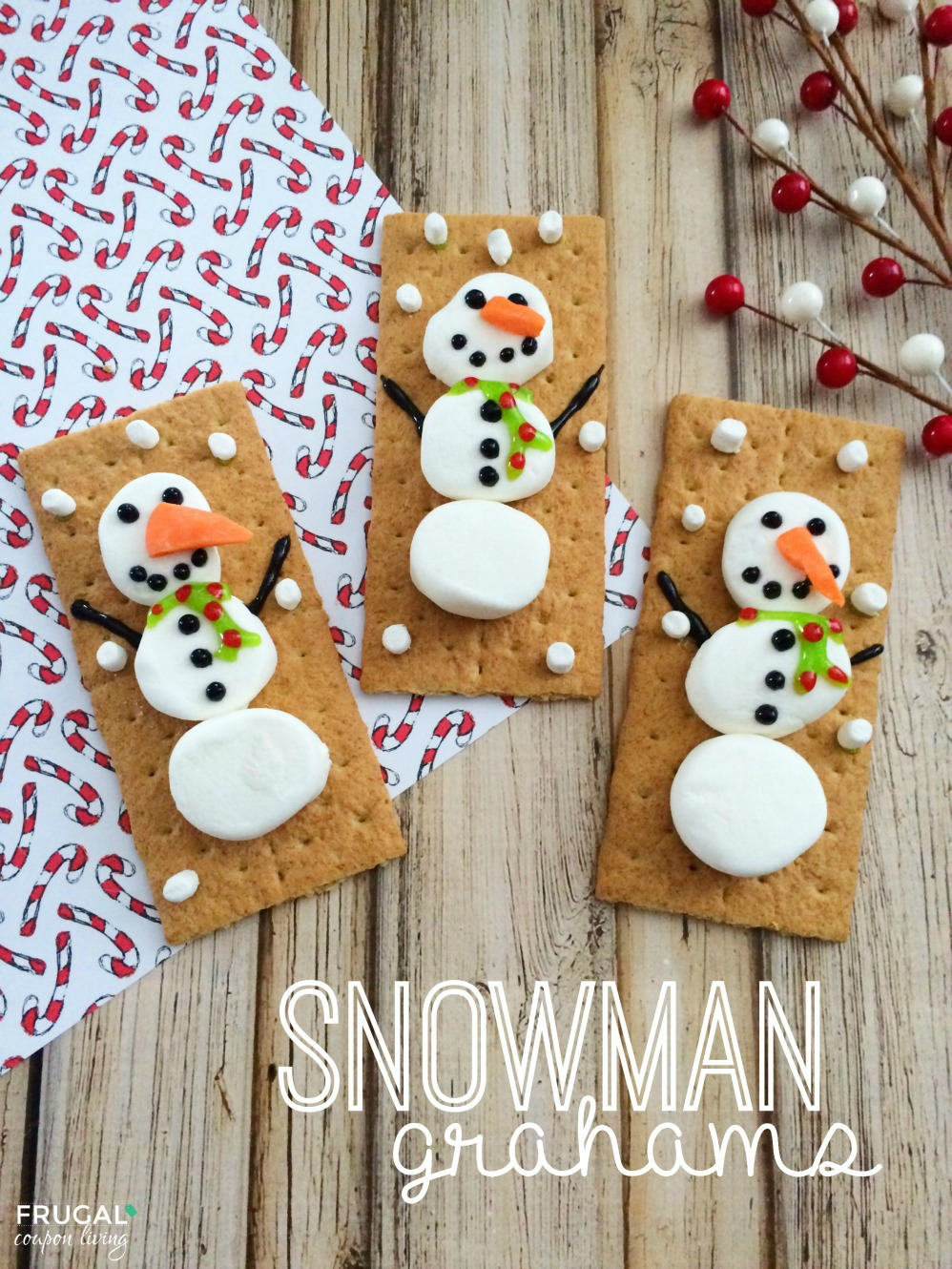 Snowman Grahams | Christmas Kids Crafts
