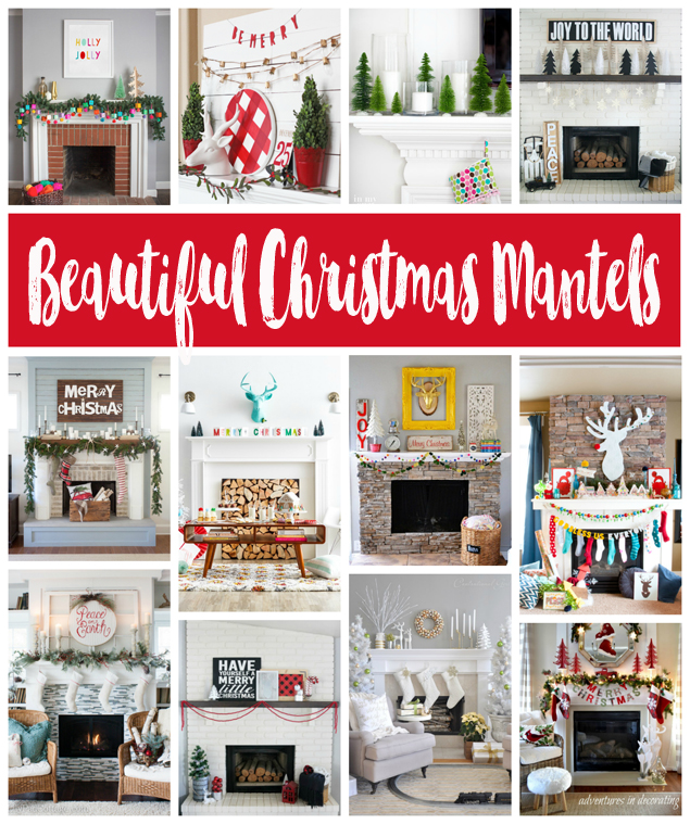 beautiful christmas mantels - Beautiful Mantel Christmas Decorations
