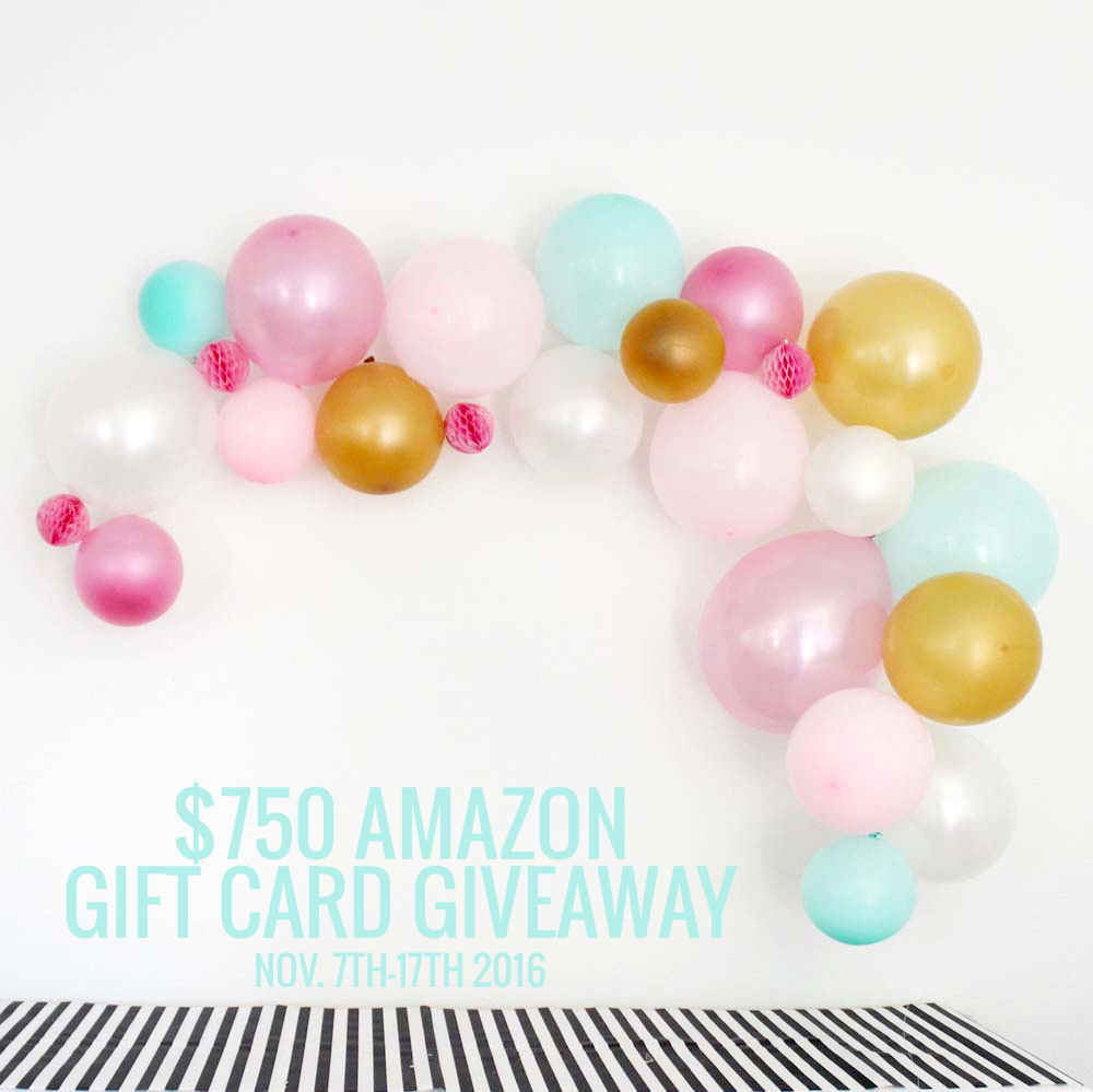 $750 Amazon Gift Card Giveaway!! Click over and enter.... good luck!!
