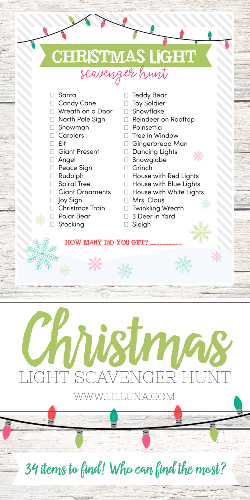 Our Friday Five | Christmas Light Scavenger Hunt from Lil Luna