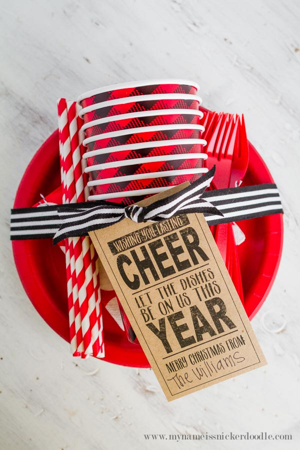 Neighbor Christmas Gift Ideas | Dishes Be On Us This Year | My Name Is Snickerdoodle