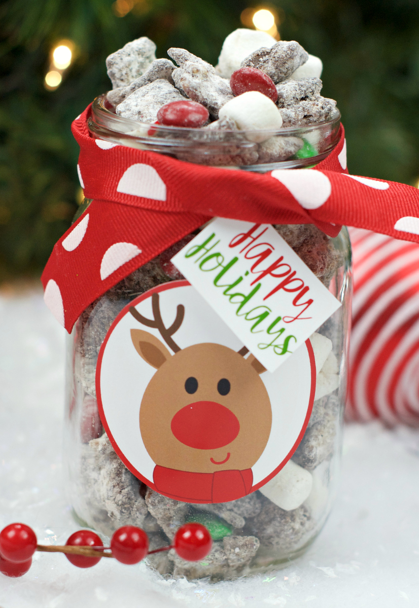 Neighbor Christmas Gift Ideas | Christmas Muddy Buddies | Fun Squared