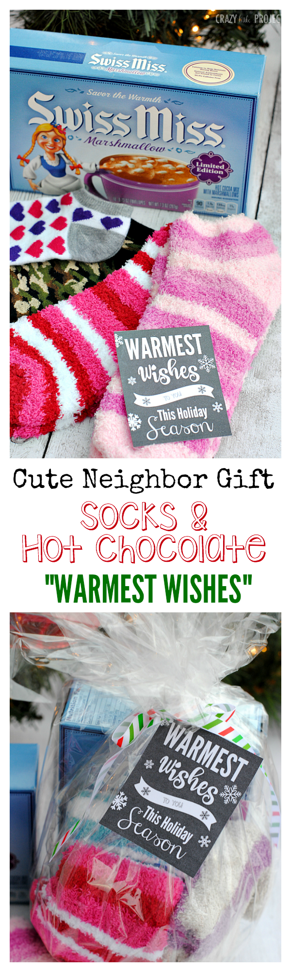 Neighbor Christmas Gift Ideas | Warmest Wishes Neighbor Gift | Crazy Little Projects