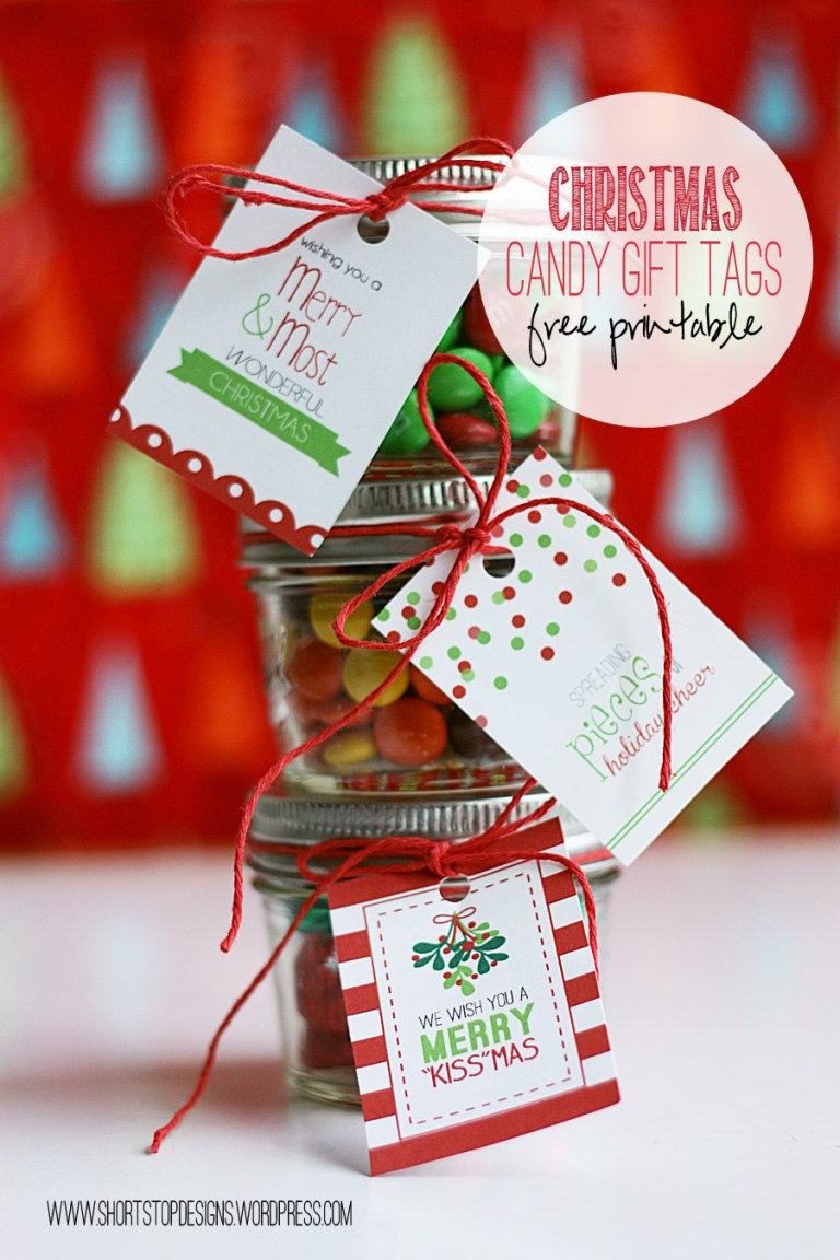 Neighbor Christmas Gift Ideas | Christmas Candy Gift Tags | Short Stop Designs