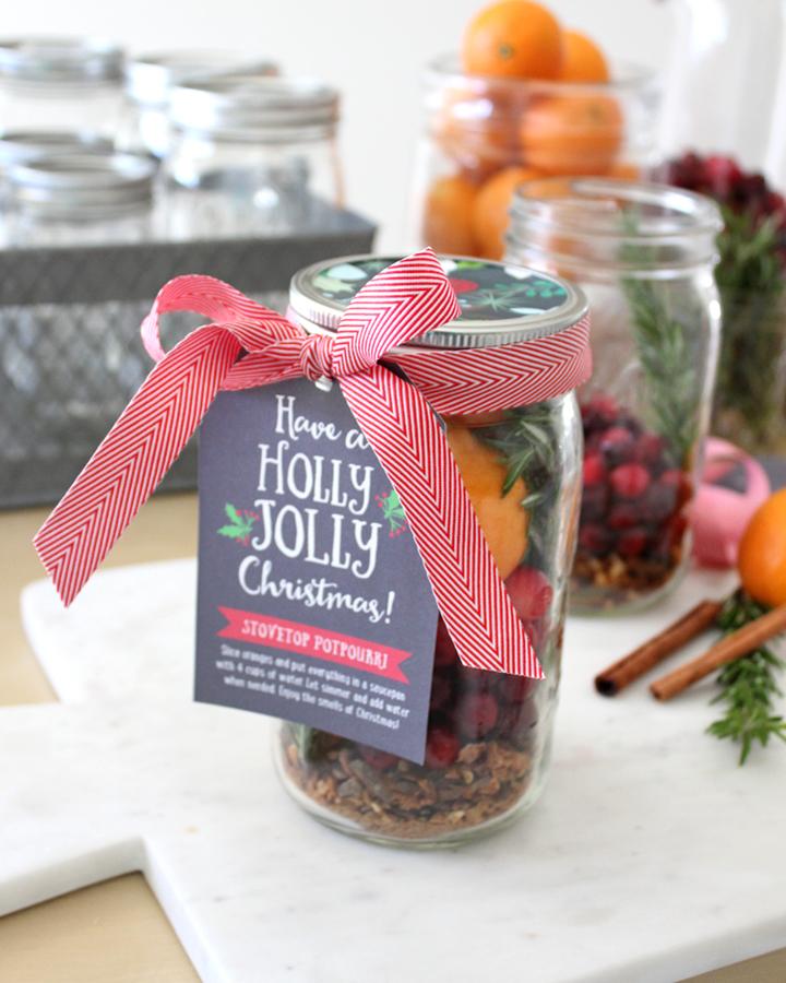 Neighbor Christmas Gift Ideas | Christmas Potpourri with Gift Tag | Tonality Designs