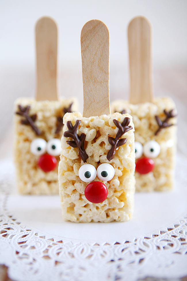 Rice Crispy Treat Christmas.Reindeer Rice Krispies