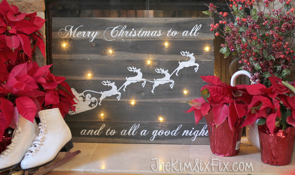 Merry Christmas to All Sign via The Kim Six Fix | Show and Tell Link Party