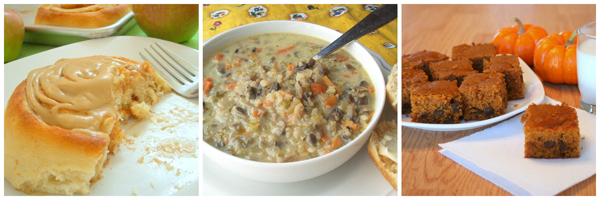 spiced-caramel-apple-cinn-rolls-wild-rice-and-mushroom-soup-pumpkin-squares-600px