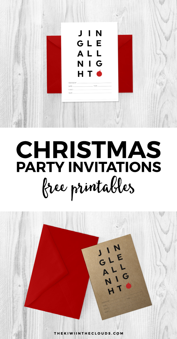 Free Printable Christmas Party Invitations To Rock Your Holiday Party