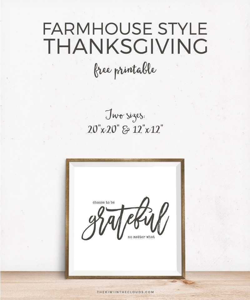 Free Printable Farmhouse Style Thanksgiving Art