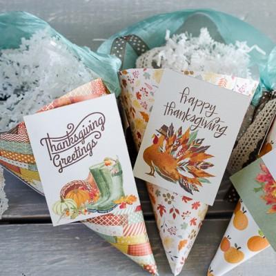 Thanksgiving Paper Cones