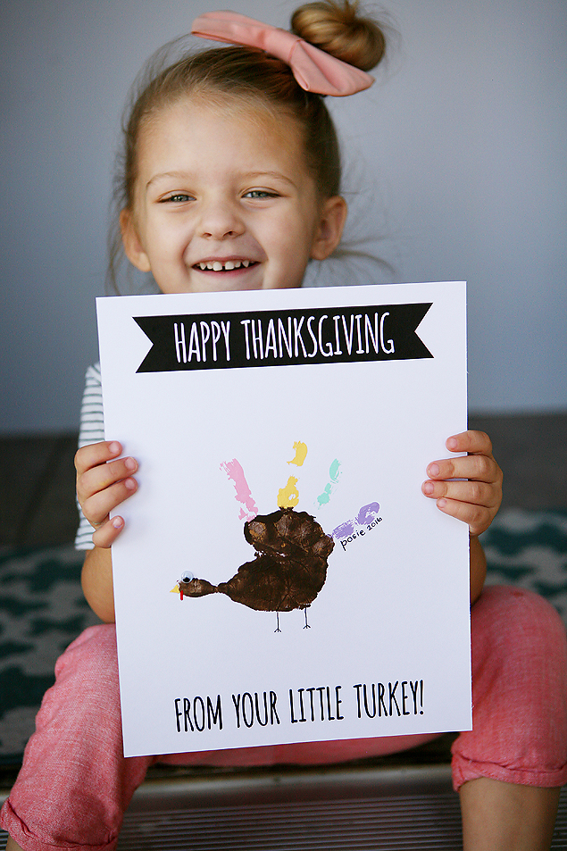 Handprint Turkey Cards | Thanksgiving Kids Craft
