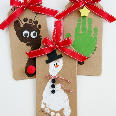 Footprint Christmas Ornaments