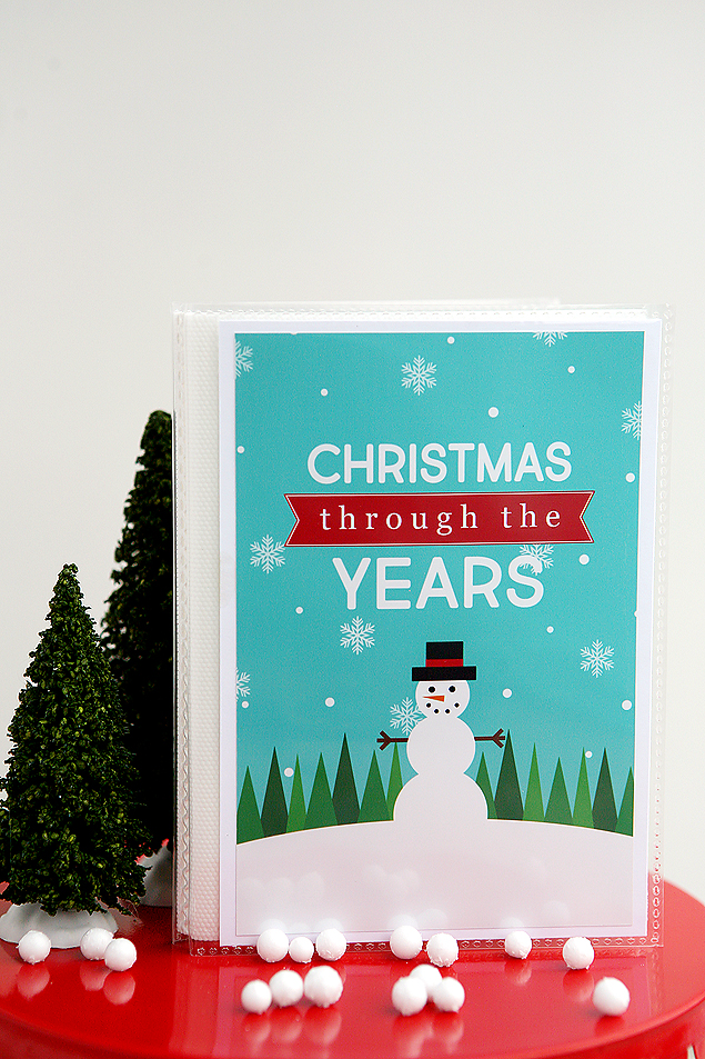 Christmas Through The Years Album | Free Christmas Printables